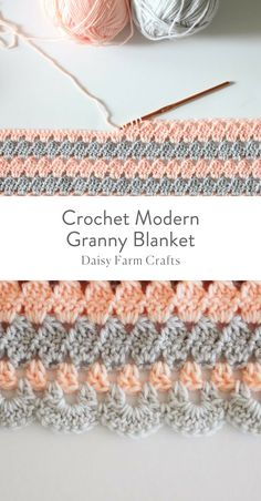 Free Pattern - Crochet Modern Granny Blanket - Old PicModern, Beginner Crochet Long Sleeve Cardigan - Free pattern + Video - Pin usThis post was discovered by azCrochet new grannysquareFree Crochet Stitches from Daisy Farm Crafts Crochet Afghans, Motifs Afghans, Afghan Crochet Patterns, Crochet Stitches, Knitting Patterns, Crochet Blankets, Baby Afghans, Baby Blankets, Pull Crochet