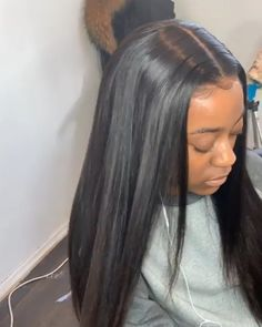 Thriving Hair Virgin Human Hair Brazilian Silky Straight Pre-Plucked Full Lace Wigs for black Natural Bun Hairstyles, Sew In Hairstyles, Frontal Hairstyles, Braided Hairstyles For Wedding, Baddie Hairstyles, Black Women Hairstyles, Straight Hairstyles, Natural Hair Styles, Long Hair Styles