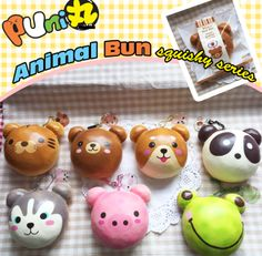 Animal Bun Squishy **Available late March