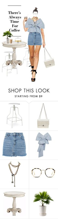 """Untitled #725"" by xannres ❤ liked on Polyvore featuring Threshold, Chanel, Topshop, Delpozo, Bailey Nelson, Jay Import and CoffeeDate"