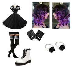 """""""oc"""" by ellie-gardner on Polyvore featuring beauty, Dr. Martens and LeiVanKash"""