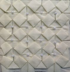 Block 11: beaded origami – Textured 4-patch quilt   Sewn Up by TeresaDownUnder