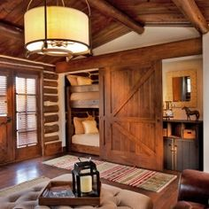 1000 images about log house on pinterest log cabins for Log cabin style bunk beds