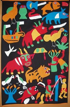 """minamaruco: """" Applique Banners from Benin """""""