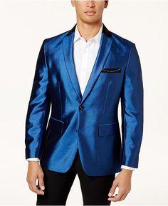 INC International Concepts Mens Gabriel Classic-Fit Check Suit Jacket