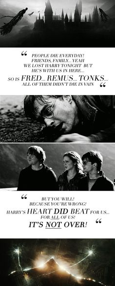 """""""You'll stay with me?"""" """"Until the very end."""" """"And to you, if you have stuck with Harry until the very end."""" #harrypotter"""