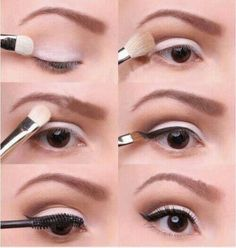 White eye shadow. Visit Beauty.com for more