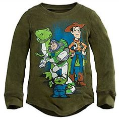 Long Sleeve Thermal Toy Story Tee for Boys