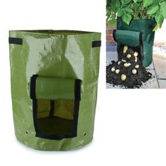 PE Vegetables Planting Bag Garden Balcony Potatoes Tomatoes Planter