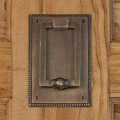 Tolston Brass Door Knocker - contemporary - outdoor decor - by Signature Hardware Door Knockers Unique, Brass Door Knocker, Door Knobs, Door Handles, Contemporary Outdoor Decor, Contemporary Doors, Unique Doors, Entry Doors, Front Doors