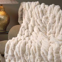 ivory-mink-faux-fur-throw-blanket | Indeed Decor