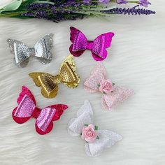 Lovely Children Brand New Fimo Butterfly Snap Clips Hair Sleepies 2 on  card cdd