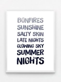 Navy Blue Typography Print Blue Typography Poster