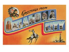 Greetings from Oklahoma City Premium Poster