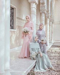Kebaya Muslim, Kebaya Modern Hijab, Muslim Dress, Modest Dresses, Pretty Dresses, Wedding Party Dresses, Bridesmaid Dresses, Hijab Dress Party, Dress Brokat