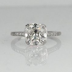 I really want a circle cut but this princess cut is gorgeous too.