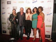 """Truly Magyar, Zander Villayne, Sarah Pettycrew, Marisa Petroro, and Yetem Kefale Worku on the red carpet for """"Life at the Resort"""" at the Downtown Film Festival Los Angeles 2012."""