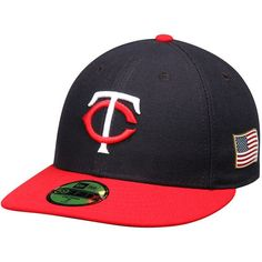 Minnesota Twins New Era Authentic Collection On-Field US Flag 59FIFTY Fitted Hat - Navy/Red - $37.99