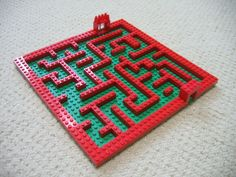 My son loves Legos and mazes.  So why not combine the two and make a maze out of Legos.
