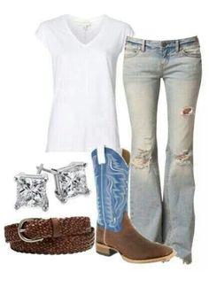 So cute country look! Country Look, Estilo Country, Country Girl Style, Country Fashion, Country Girls, My Style, Country Wear, Country Casual, Country Girls Outfits