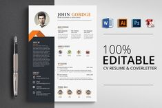 Professional Job CV Resume Word by Psd Templates on College Resume Template, Resume Design Template, Cv Template, Resume Templates, Print Templates, Design Templates, Resume Cv, Resume Tips, Resume Writing