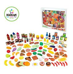 KidKraft Tasty Treats 125-pc. Play Food Set