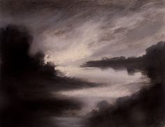 copyright 2010, Jan Blencowe, Charcoal & Pastel on Stonehenge Paper, Untitled no.1