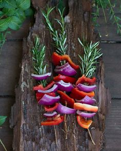 Marinated Summer Vegetables Grilled On Rosemary Skewers Recipes ...
