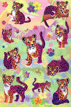 Lisa Frank.  I had the coloring books, the stickers, everything.