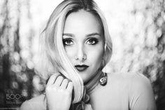 Black and White Portrait of Glamorous Alena by johannwinterholler
