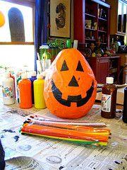 Diy Halloween Pinata 1 part flour to two part water