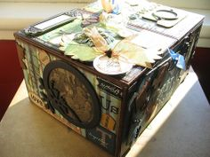 The Altered Cigar Box by Captured Moments Scrapbooking, via Flickr