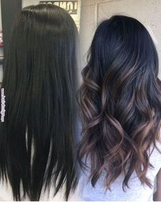 Good color for my mom! 25 pretty fall hair color for brunettes ideas 11 balayage dark hair Fall Hair Color For Brunettes, Hair Color For Black Hair, Dark Fall Hair Colors, Hair Color Ideas For Brunettes Balayage, Autumnal Hair Colour, Dye For Dark Hair, Blue Hair, Raven Hair Color, Darker Hair Color Ideas