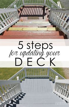Do you plan on updating your deck this summer? Check out these 5 steps that'll definitely need to accomplish a beautiful deck!