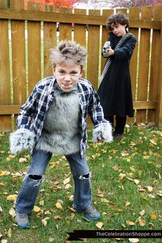 Create your own Werewolf and Werewolf Hunter Halloween Costumes | @kimbyers TheCelebrationShoppe.com #DIYHalloweenCostumes