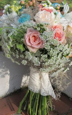 Vintage lace and Spanish moss...-for Garden Gate Florals-Orlando