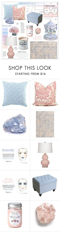 """""""Pantone 2016 Living Room Makeover"""" by katrinaalice ❤ liked on Polyvore featuring interior, interiors, interior design, home, home decor, interior decorating, Trina Turk, Craftsman, New Growth Designs and living room"""