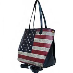 USA Vintage Flag Fashion Tote – Handbag-Addict.com