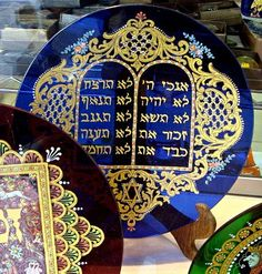 The Ten Commandments on a glass plate..