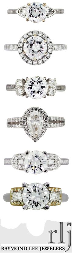 Our newest settings, including designs by Natalie K, fancy yellow micropave, unique diamond stacked 5 stone rings, and gorgeous halo engagement rings!