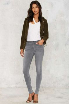Citizens of Humanity Rocket High Rise Skinny Jeans - Silver Lining - Denim