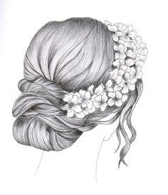 Illustration of Bridal hair dress