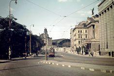 История и современность - Прага 1946 в цвете Heart Of Europe, Czech Republic, Historical Photos, Prague, Louvre, Street View, Travel, Photos, Historia