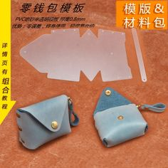 2018 New DIY leather craft 한 수 제 Mini bag Small coin purse 봉 제 (eiffel. Leather Diy Crafts, Leather Gifts, Leather Projects, Leather Craft, Small Coin Purse, Coin Bag, Leather Purses, Leather Wallet, Leather Bag Pattern