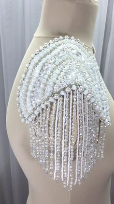 Zardozi Embroidery, Beaded Embroidery, Hand Embroidery, Embroidery Designs, Fancy Wedding Dresses, Beaded Dresses, Shoulder Jewelry, Crochet Headband Pattern, Indian Fashion Dresses