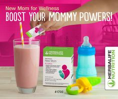 Fight fatigue & get specific vitamins and minerals you need as a NEW MOM Herbalife Recipes, Herbalife Shake, Herbalife Products, Nutrition Shakes, Herbalife Nutrition, Nutrition Club, Healthy Nutrition, Herbalife Distributor, Pregnant And Breastfeeding