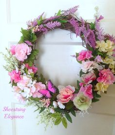 Shoestring Elegance: My New Spring into Summer Wreath!