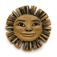Sun Face  Round Tile by GretchenKramp on Etsy, $48.00