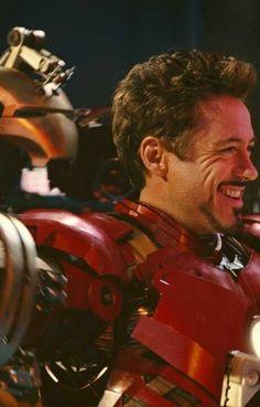 Iron Man  .. The crowd-pleaser smile.
