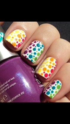 Rainbow dots. This looks like it would take a log time to do.
